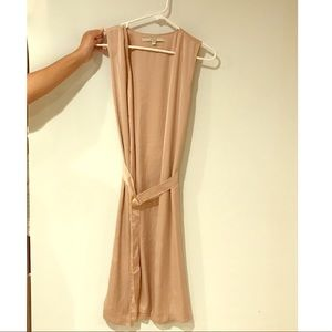 Cream sleeveless Guess cover up