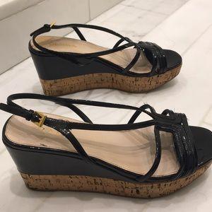 Prada black sandals with cork heel size 37