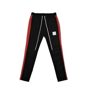 Trap Track Pants - Black/Red