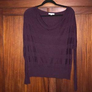 🍂NY&Co Eggplant Lightweight Sweater - Size M🍂