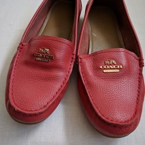 7.5 Coral Coach Loafers