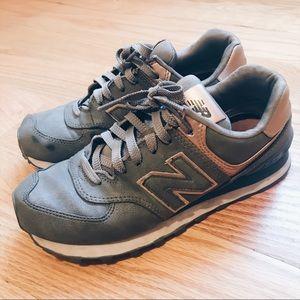 New Balance Precious Metals 574 Rose Gold Sneakers