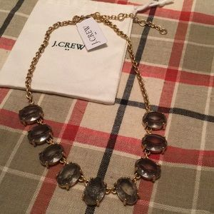 J. Crew grey sparkle necklace NWT