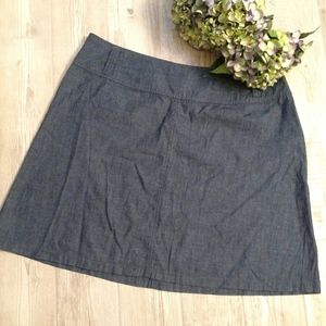LANE BRYANT Plus Size Denim Scooter Skirt NWT