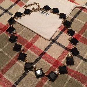 J. Crew black Witt sparkle accent necklace