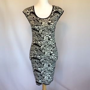 Max Studio Black/Ivory Sweater Dress. NWT