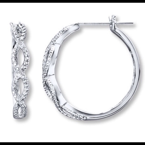 75c8b476f Kays Jewelry   Diamond Hoop Earrings 1 Pair Left   Poshmark