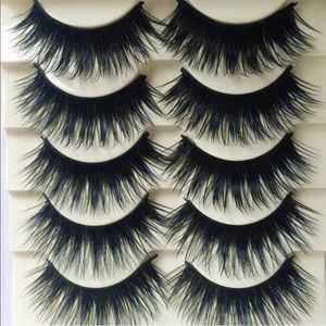 💕5-Pair Of Thick Natural Black/Blue Lashes💕