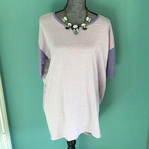 NWOT LuLaRoe Irma Tshirt 2 Tone Lilac & Lavender S