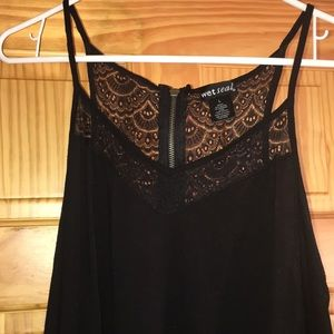 Black with lace tank top