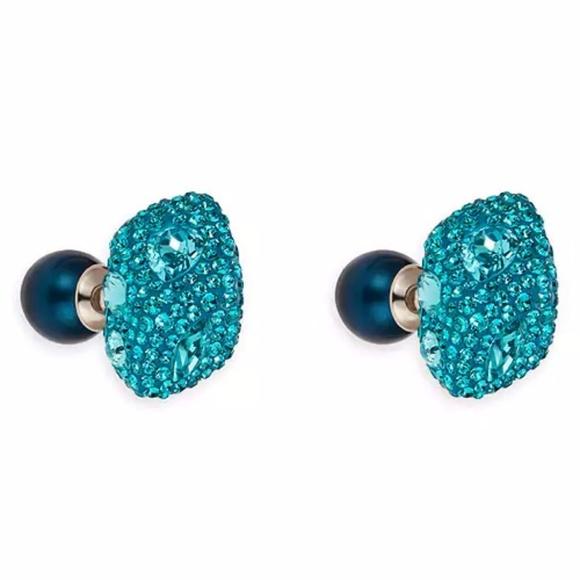 9daea442c Swarovski Jewelry | Atelier Moselle Double Stud Pierced Earr | Poshmark