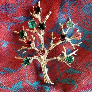 Vintage Tree of Life brooch Sterling Silver 925