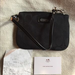 COACH Black Signature Wristlet