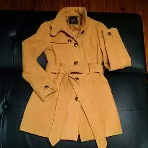 Dark Yellow BB Dakota Tie Waist Jacket