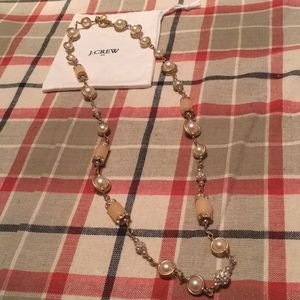 J. Crew necklace with pearls and sparkle