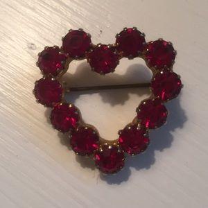 Red Heart Brooch