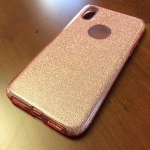 Apple iPhone X glittery pink phone case new!