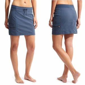 Athleta Black Trekkie Skirt Skort Trail Sz 4 1126