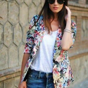 ZARA flower blazer