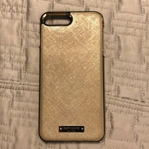 Kate Spade gold case iPhone 7 plus