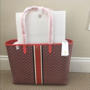 Tory Burch Gemini link tote - Red color - NWT