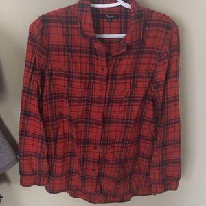 Women's small madewell flannel shirt