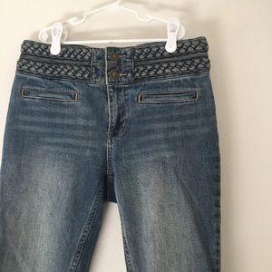 Free people braided belt skinny jeans