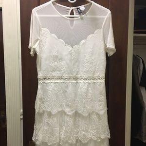 H&M white lace dress size 12, worn once!
