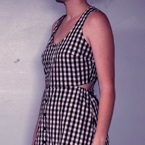 Black and White Checkered Maxi Dress