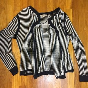 Navy Loft Striped Sweater