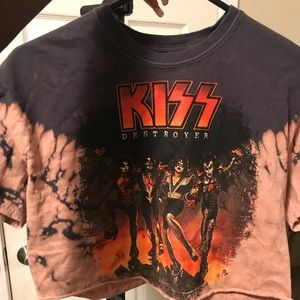 KISS cropped T shirt - Worn ONCE