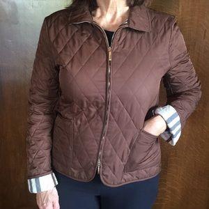 Brown Burberry coat