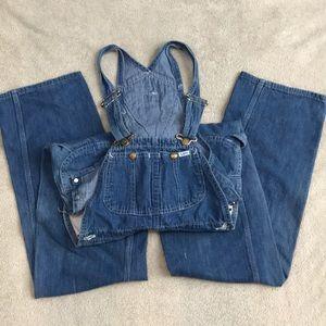 VINTAGE Lee blue Jean overalls