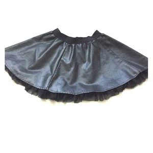 Black Leather Forever 21 Skirt