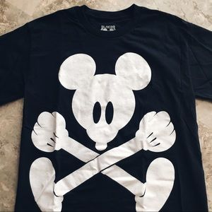Mickey Mouse Crossbones Tee (Unisex Small)
