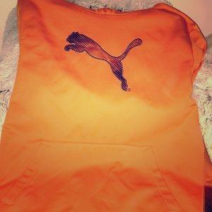 Puma orange hoodie!