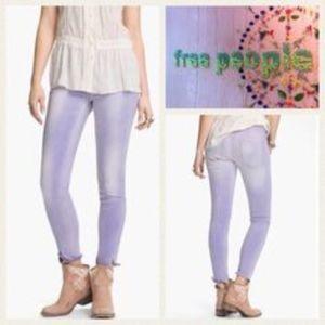 FREE PEOPLE stretch lavender skinny jean/NWT/28