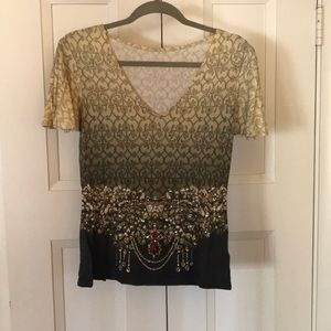 tarun tahiliani embellished top M