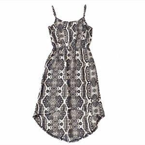 Loft python print high low dress