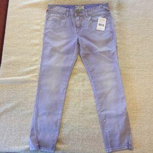 FREE PEOPLE lavender stretch skinny jean/NWT/29
