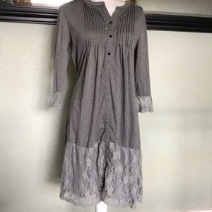 Reborn lace trim dress