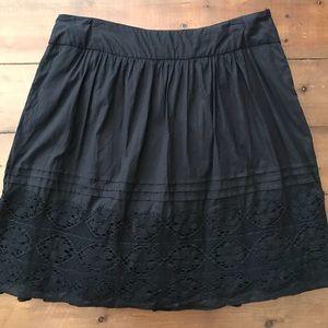 Antbropologie Odille Black Skirt