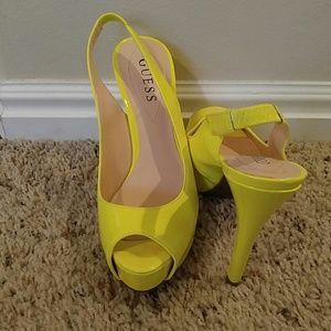 Guess 6.5 Guess Yellow Heels