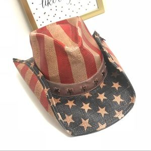 New PETER GRIMM American Flag Rabbit Cowboy Hat