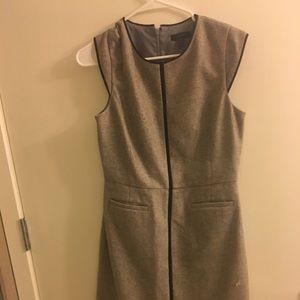 Jcrew grey tweed dress in size 8