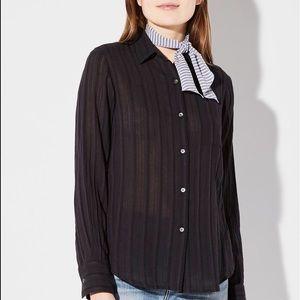NWT Steven Alan Harrison Shirt Black Small