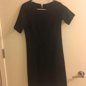 Jcrew simple black knit dress in size 6