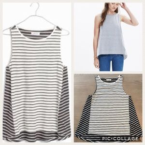 Madewell Forward Seam Tank Top in Blue Stripe