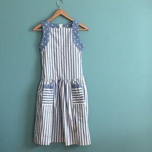 Vintage Striped &a Polka Dot Dress