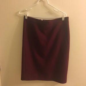 Jcrew maroon pencil skirt in size 6